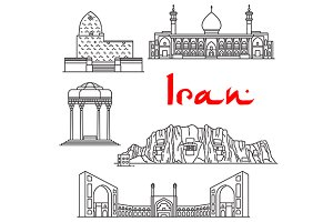 Iran architecture and landmarks