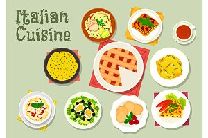 Italian cuisine dinner dishes