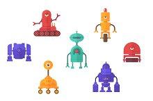 Robots Vector Flat Clip Art