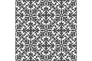 Damask floral seamless pattern
