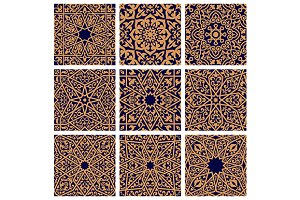Arabic seamless color patterns
