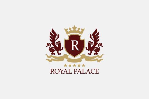 royal brand logo v2 logo templates creative market. Black Bedroom Furniture Sets. Home Design Ideas