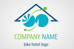 Bike hotel logo and icon