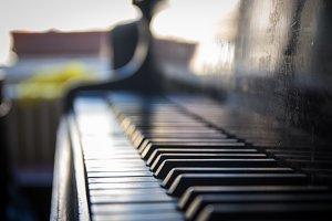old vintage piano
