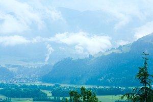 Summer Alps mountain