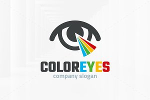 Color Eyes Logo Template