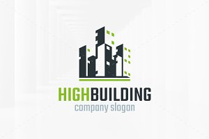 High Building Logo Template