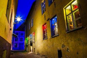 Medieval street in Tallinn, Estonia