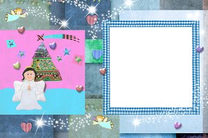 Christmas photo frame card for baby