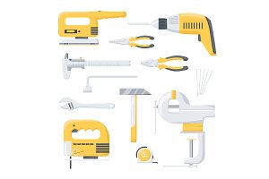 Electric and mechanical tools.