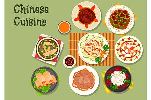 Chinese cuisine menu dishes