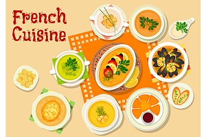 French cuisine lunch menu