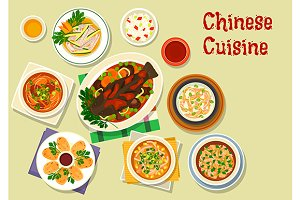 Chinese cuisine oriental dishes