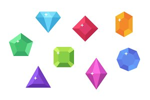 Gems Vector Flat Clip Art