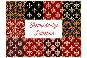 Vintage fleur-de-lis patterns