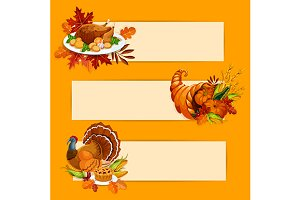 Thanksgiving Day banners