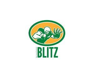 Blitz Bay Area Football Logo