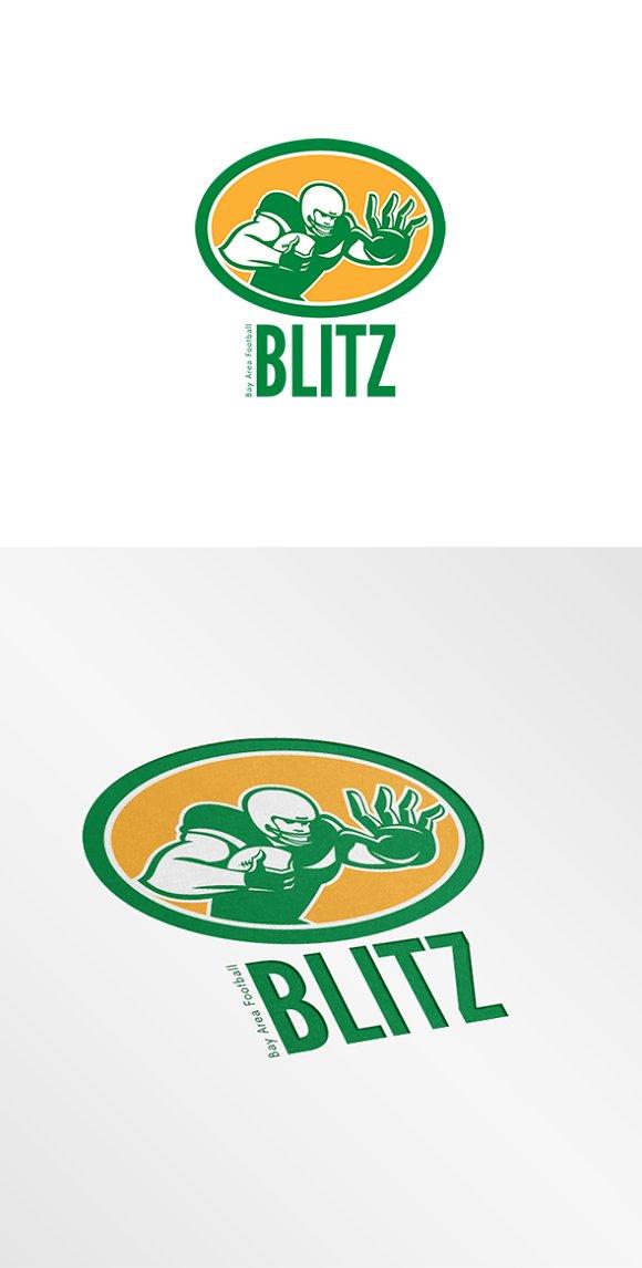Blitz Bay Area Football Logo