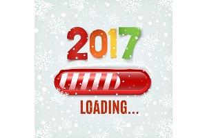 New Year 2017 loading bar.