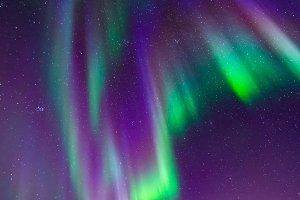 Aurora over mountains