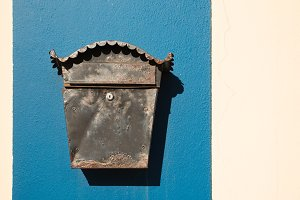 Old letterbox on the wall