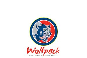 Wolfpack Wilderness Survival Logo