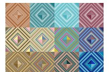 Set of seamless pattern abstract sha