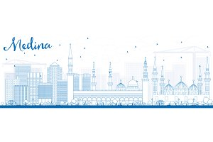 Outline Medina Skyline