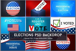 American Elections PSD Graphics