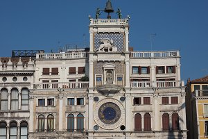 St Mark clock tower in Venice