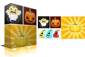 Pumpkins & Jack'O Lantern Vectors