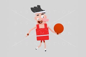 3d Illustration. Basketball Player