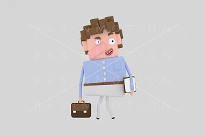 3d Illustration. Business man.