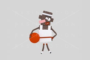 3d Illustration.Basketball Player