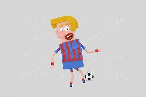3d Illustration. Football Player.