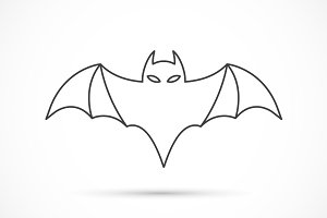 Bat outline icon
