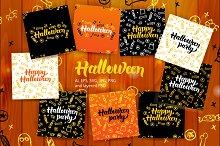 Halloween Postcards Lettering Design