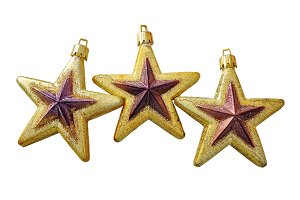 Christmas Golden Stars