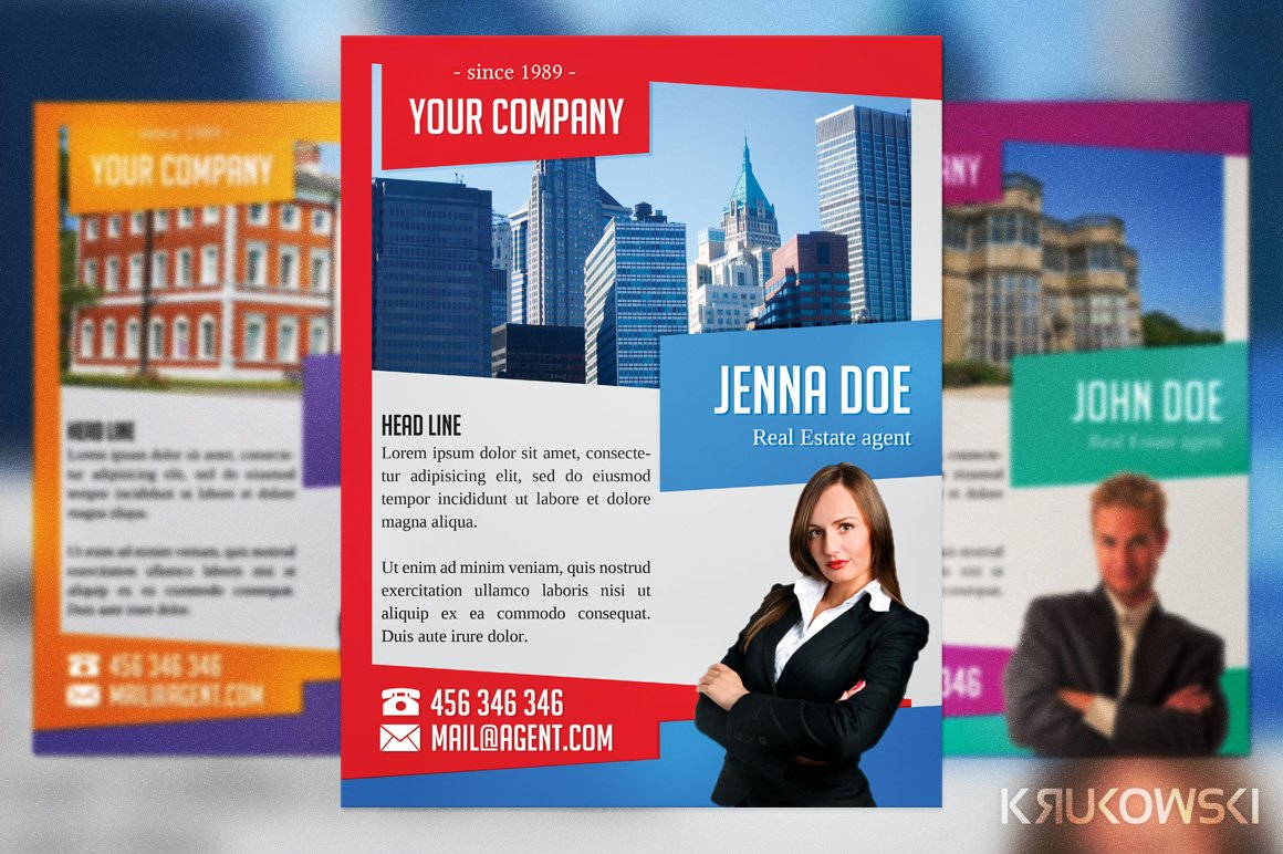 real estate agent flyer flyer templates on creative market