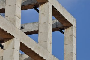 Building Columns Modern Structure