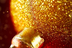 Christmas decoration with gold