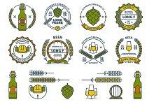 Beer emblems and design elements