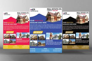 Real Estate Flyers - 3 Colors