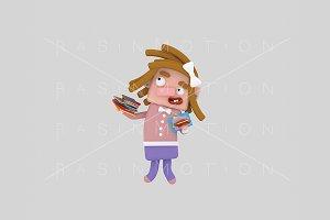 3d illustration. Student.