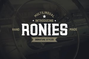 Ronies Vintage Font