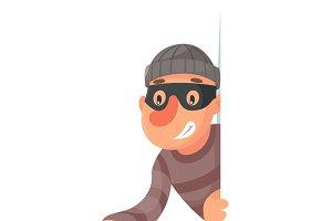 Thief with flashlight