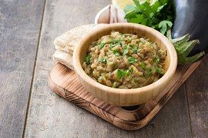 Baba ganoush and ingredients