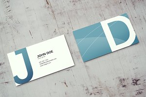 90x50 Business Card Mockup v2