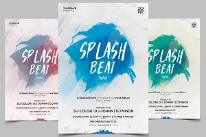 Splash Beat - PSD Flyer
