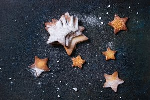 Shortbread star shape sugar cookies